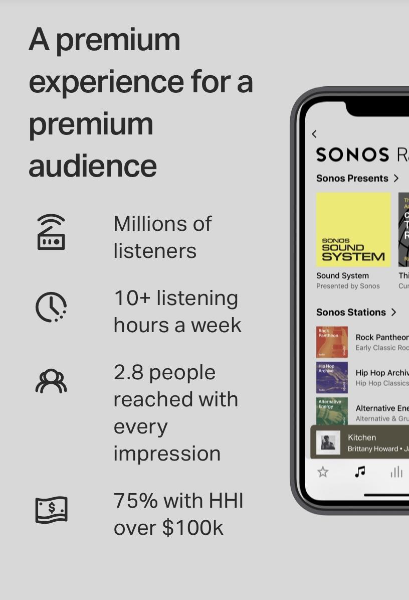 """A premium experience for a premium audience"" headline copy."